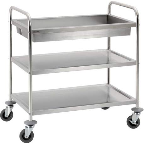 Chariot inox 2 plateaux 92 cm | A300056