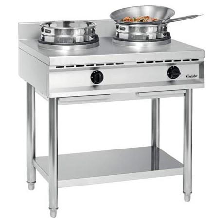 Cuisinière wok à gaz 2 feux | 1052103 - Bartscher