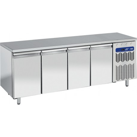 Table frigorifique 4 portes + top en granit | TP4N/L/LG - Diamond