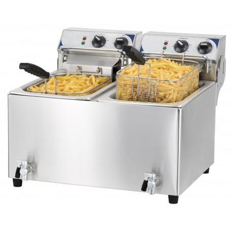 Friteuse 2x10 litres a haut rendement | CFEV102T - Casselin