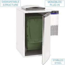 Refroidisseur de déchets 1 poubelle
