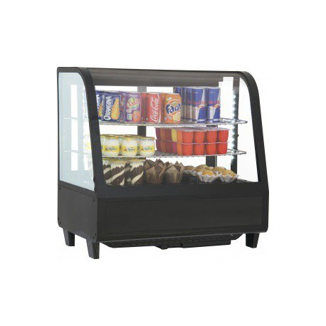 Vitrine réfrigérée à poser 100 litres noire | VRC100N