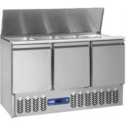 Saladette frigorifique 3 portes 380 litres