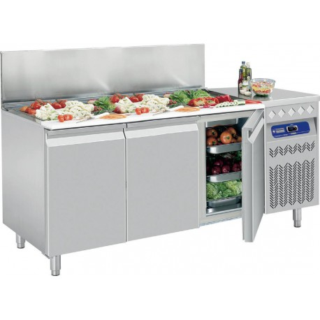 Table frigorifique de 405 litres avec 3 portes - Diamond SG3-G4/PM | SG3-G4/R2 - Diamond