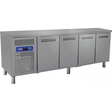 Table Frigorifique Ventilée de  225 cm avec 4 portes - Diamond MR4/TP | MR4/R2 - Diamond