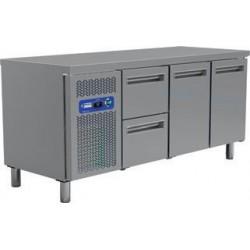 Table frigorifique 2 portes et 2 tiroirs 200 cm