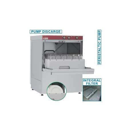 Lave verres et vaisselle paniers 45x45 avec pompe de vidange | 046D/6-PS - Diamond