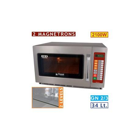 Four micro-ondes professionnel 34 litres 2100w | DW3421-DE - Diamond