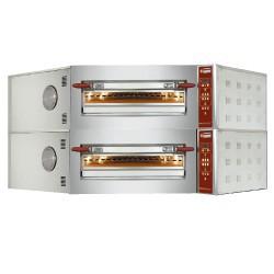 Four à pizza électrique  d'angle 2 niveaux