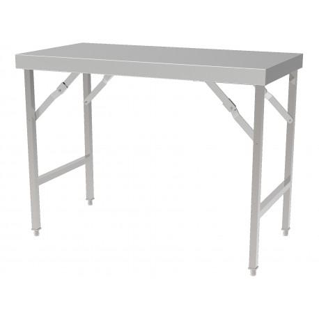 Table de travail inox pliante 1800   TPC0015