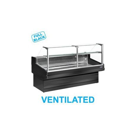 Vitrine réfrigérée 1m50 noire | EB15/B5-VV - Diamond