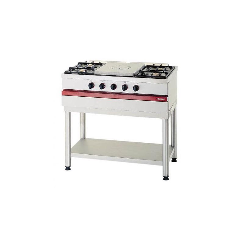 Table gaz 4 feux vifs 1 plaque coup de feu csg1050cf ambassade de bourgogne - Table de cuisson gaz 4 feux ...