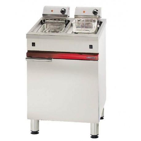 Friteuse électrique 2 x 8 litres litres Ambassade CME628FRI