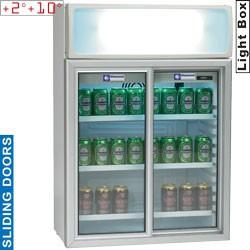 Armoire portes vitrées 100 litres