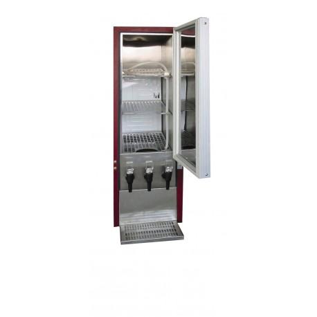 Refroidisseur de Bag-in-Box 3 becs | DKS95-3/10L-I - Tefcold
