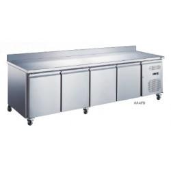 Table réfrigérée adossée 4 portes