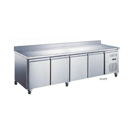Table réfrigérée adossée 4 portes | AA4PD - Collin Lucy
