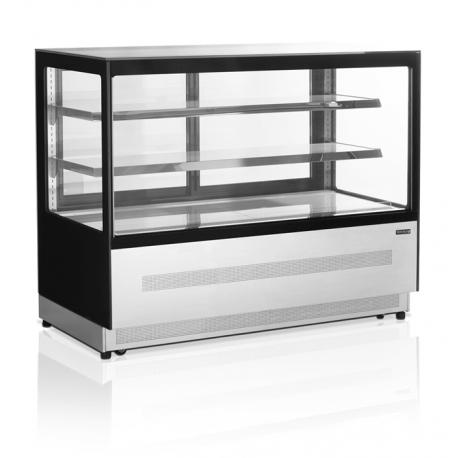 Vitrine réfrigérée 480 litres inox   LPD1500F-P/BLACK - Tefcold