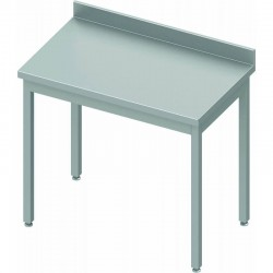 Table inox adossée P600mm