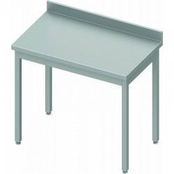 Table inox adossée P700mm