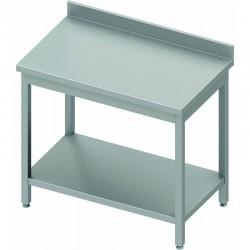 Table inox adossée profondeur 600 mm