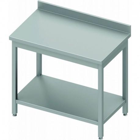 Table inox adossée profondeur 600 mm   930046040 - Stalgast
