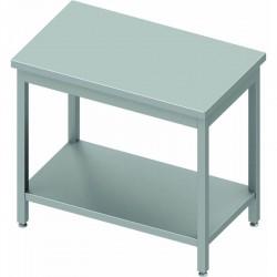 Table inox centrale profondeur 600 mm