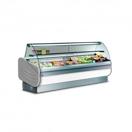 Vitrine réfrigérée 2m50 avec réserves  | FVMS250