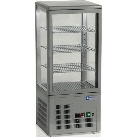 Vitrine réfrigérée verticale 4 faces vitrées | MIC-48G/R6 - Diamond