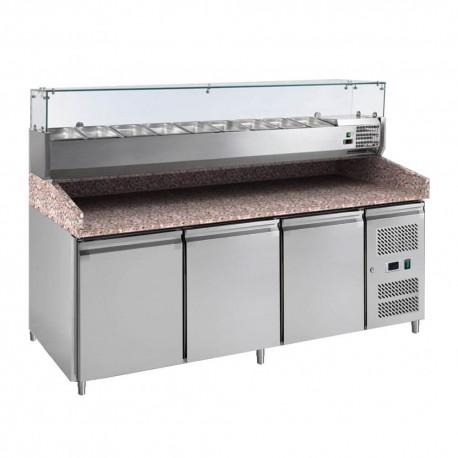 Meuble à pizza 3 portes | PZ3600TN-VRX380 - L2G