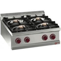 Cuisinière gaz 4 feux à poser