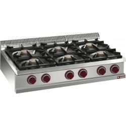 Cuisinière gaz 6 feux à poser