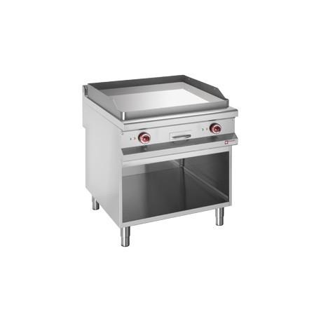 Plaque de cuisson chrome dur électrique sur armoire 800x900 | E99PLCA2