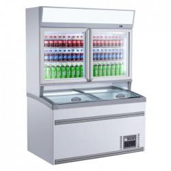 Combiné réfrigérateur congélateur murale 2 portes
