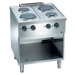 Fourneau professionnel de cuisine 700x700xh850 mm
