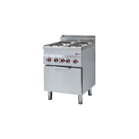 Fourneau professionnel de cuisine 600x600xh850/970 mm | E60/4PFV6 - Diamond
