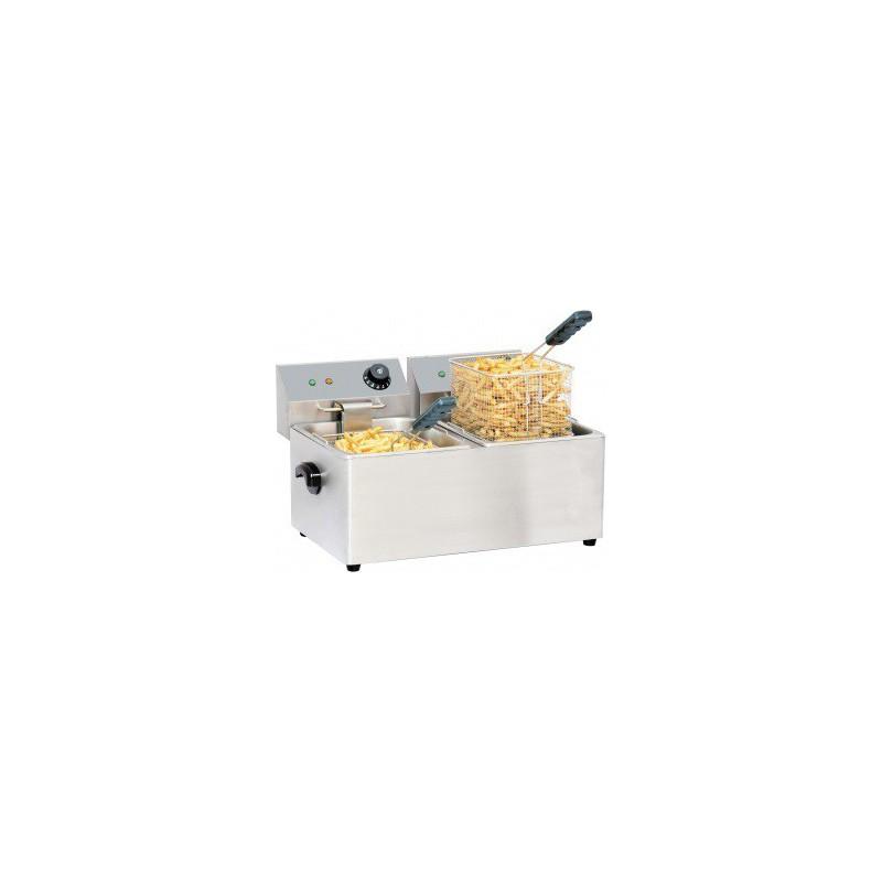 friteuse lectrique pour restaurant double bac 2x4 litres en inox. Black Bedroom Furniture Sets. Home Design Ideas