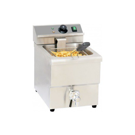 friteuse électrique 8 litres avec vidange | CFEV8 - Casselin