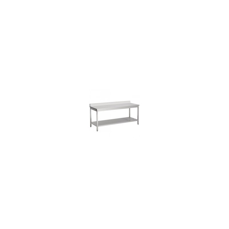 plan de travail inox adoss avec tag re 1400x700. Black Bedroom Furniture Sets. Home Design Ideas