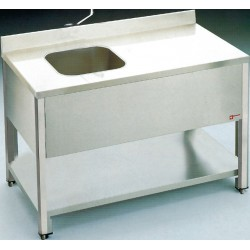 Table du chef inox 1400x700 mm