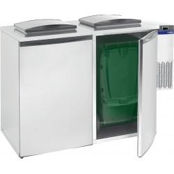 Refroidisseur de déchets 2 poubelles
