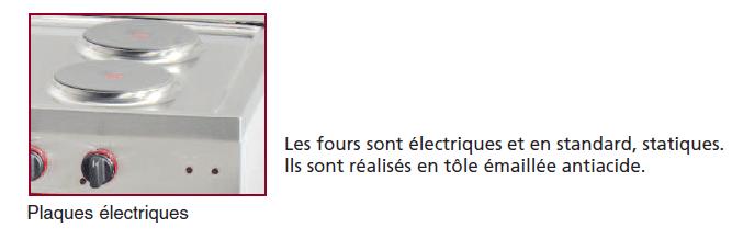 plaques fourneau électrique ambassade CE1051B