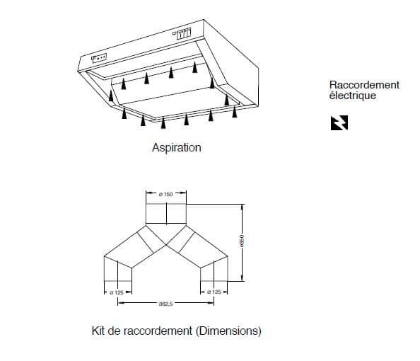 hotte aspirante h1002 ambassade de bourgogne. Black Bedroom Furniture Sets. Home Design Ideas