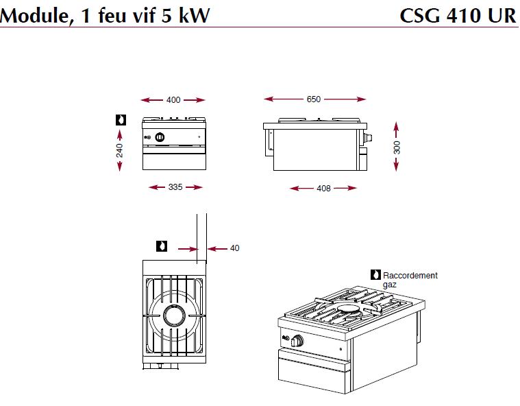 Module foyer gazCSG410UR