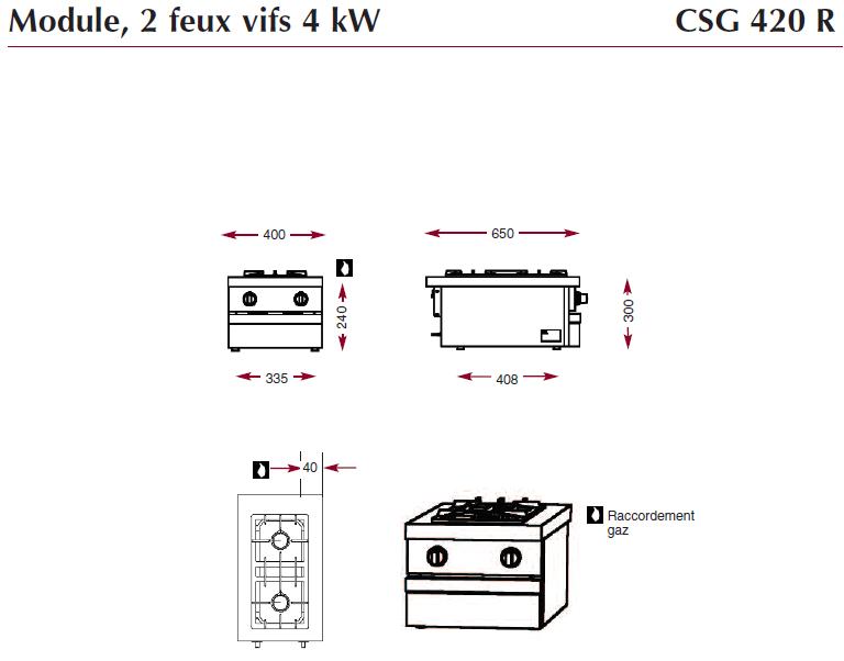 Dimensions CSG420R