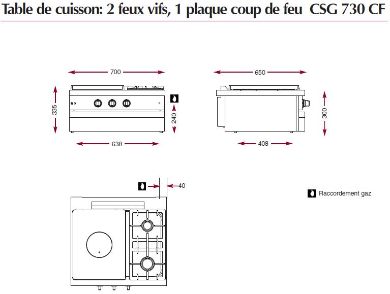 Dimensions CSG730CF