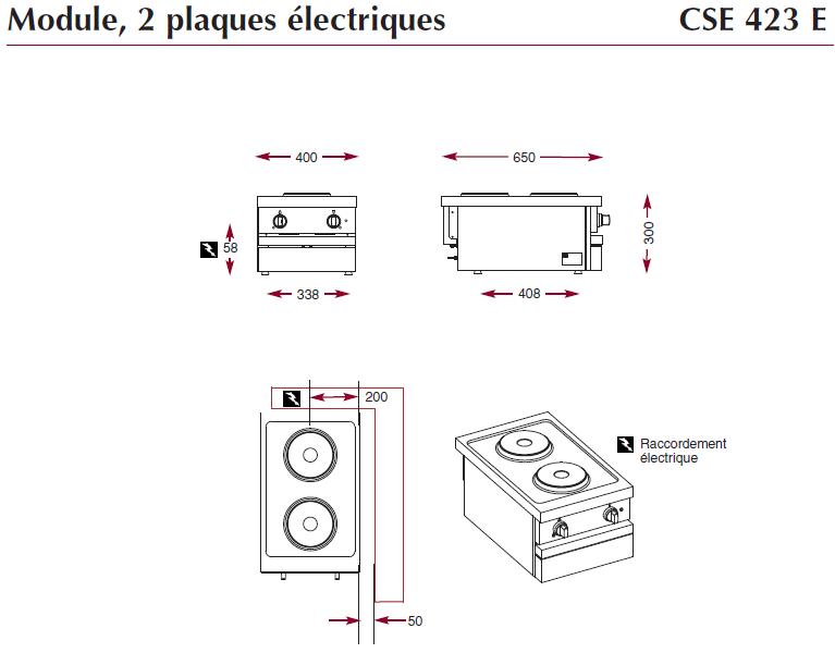 Dimensions du module CSE423E