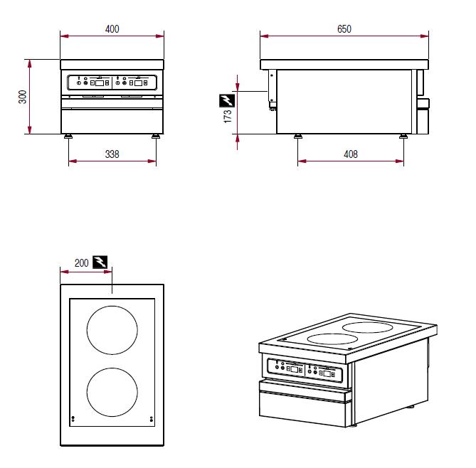 Dimensions de la table Ambassade CSE423IX