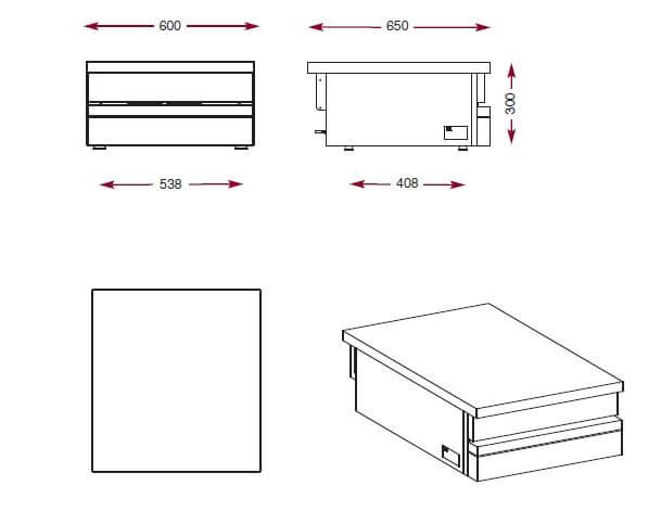 Dimensions du plan neutre Ambassade CSA600P