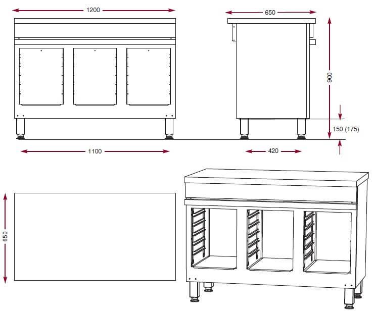 armoire de rangement cma1200p ambassade de bourgogne. Black Bedroom Furniture Sets. Home Design Ideas